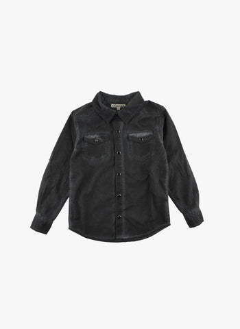 Small Rags Denim Shirt in Black