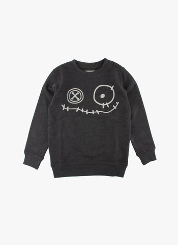 Small Rags Graphic Sweatshirt in Black - FINAL SALE