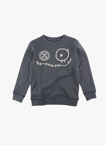 Small Rags Graphic Sweatshirt in Blue - FINAL SALE