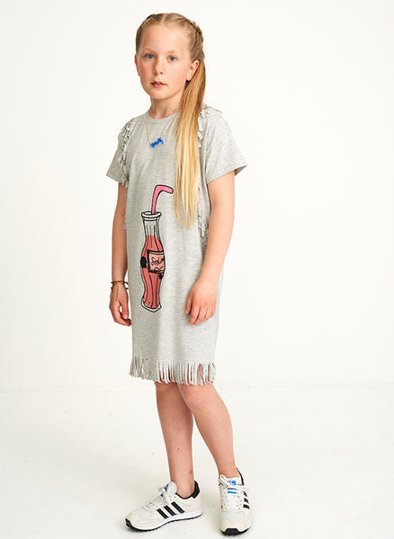 Soft Gallery Ayse Dress in Grey Melange Soda - FINAL SALE