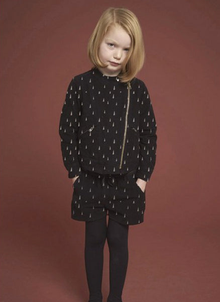 Soft Gallery Marina Jacket in Jet Black Arbre Print - 2487104 - FINAL SALE