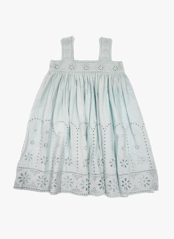 Stella McCartney Kids Anemone Girls Sleeveless Eyelet Dress