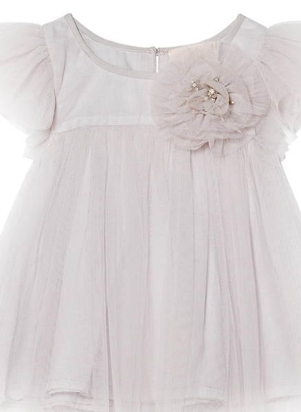 Tutu Du Monde Baby Penny Dress in French Silver