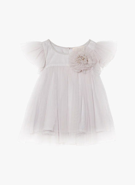 Tutu Du Monde Baby Penny Dress in French Silver - FINAL SALE