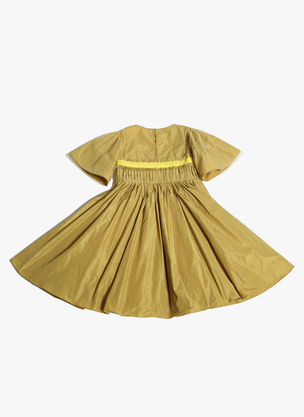 Tia Cibani Kids Asymetric Patchwork Gown in Ginger