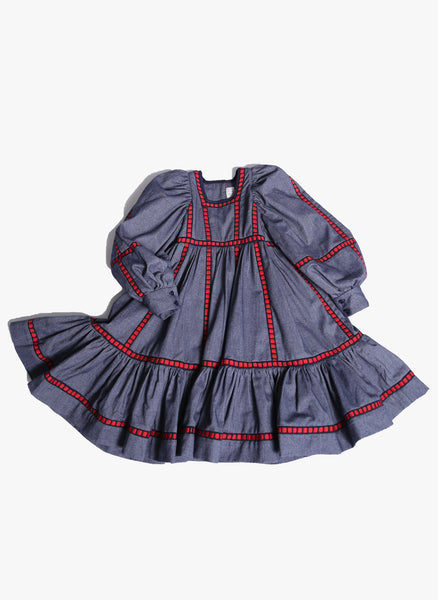Tia Cibani Kids Herero Frock in Indigo