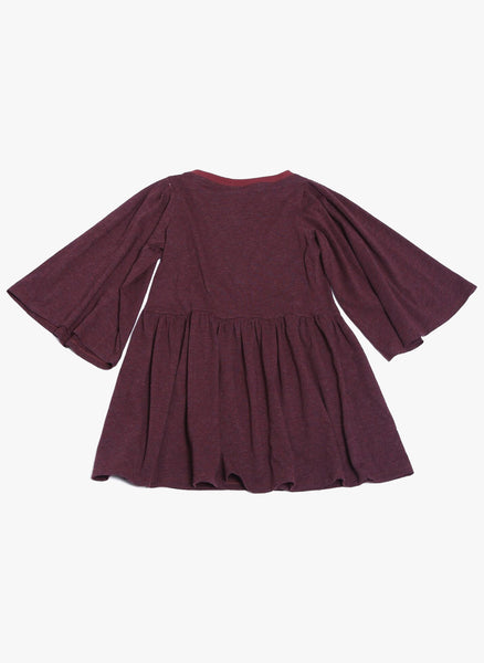 Tia Cibani Flounce Sleeve Dress in Berry - FINAL SALE