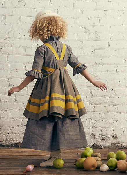 Tia Cibani Jalisco Apron Dress in Pecan - FINAL SALE