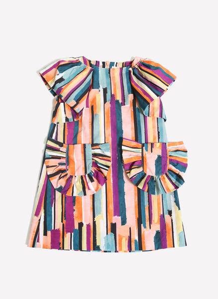 Tia Cibani Kids Fan Pockets Shirt Dress - FINAL SALE