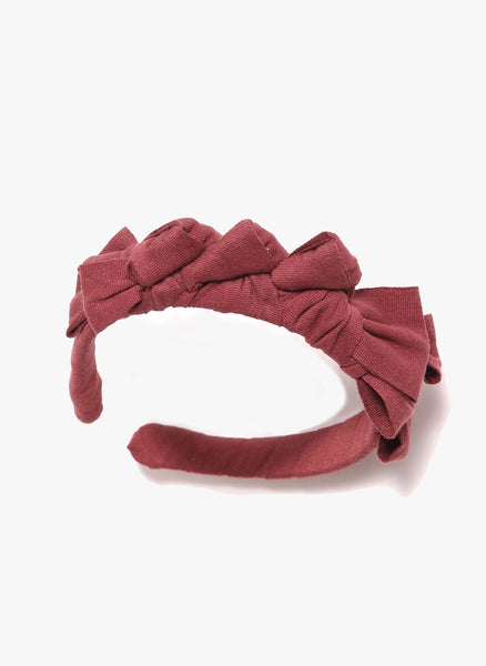 Tia Cibani Knotted Ribbon Headband in Berry - FINAL SALE