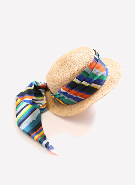 Tia Cibani Pintura Stripe Boater - FINAL SALE