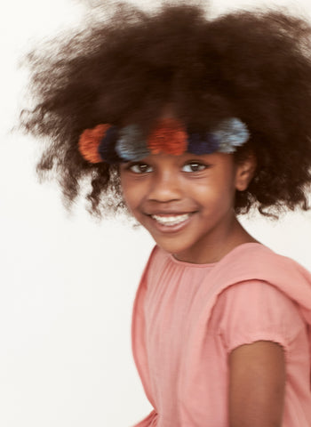 Tia Cibani Pompom Headband in Sesame - FINAL SALE