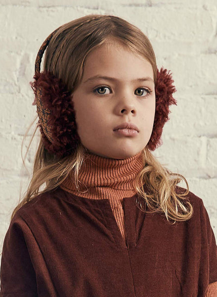 Tia Cibani Puno Bow Earmuff in Berry