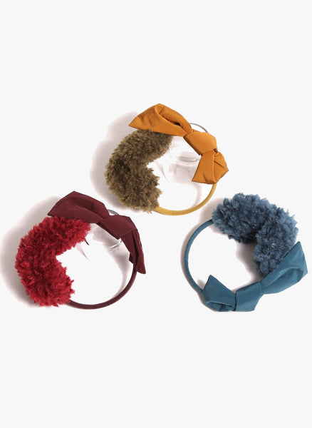 Tia Cibani Puno Bow Earmuff in Root - FINAL SALE