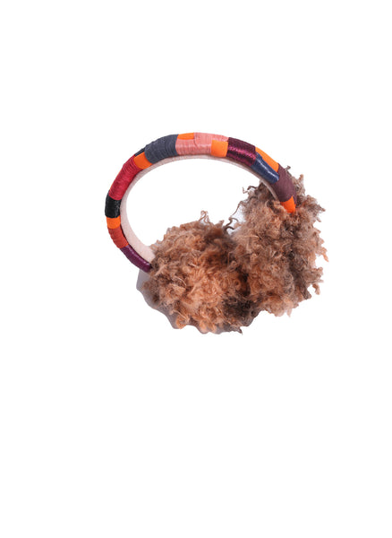Tia Cibani Roped Ear Muff in Copper Mix - FINAL SALE
