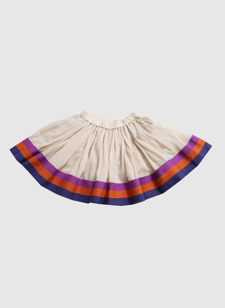 Tia Cibani Stacked Ribbon Tabasco Skirt in Sesame - FINAL SALE