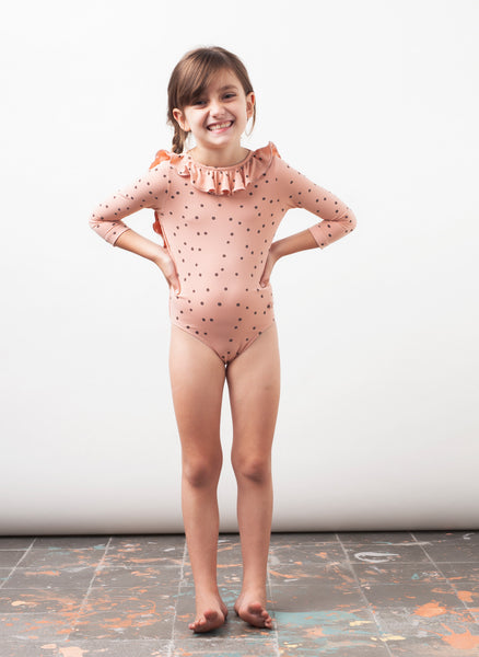 Tocoto Vintage Dots Swimsuit in Pink