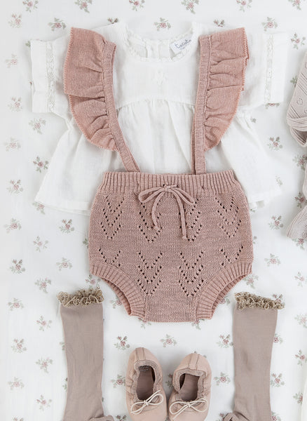 8e79222098c1 Tocoto Vintage Baby Knitted Romper in Pink - FINAL SALE – Hello ...