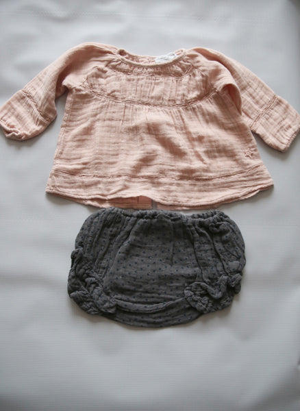 Tocoto Vintage Baby Blouse in Pink - FINAL SALE