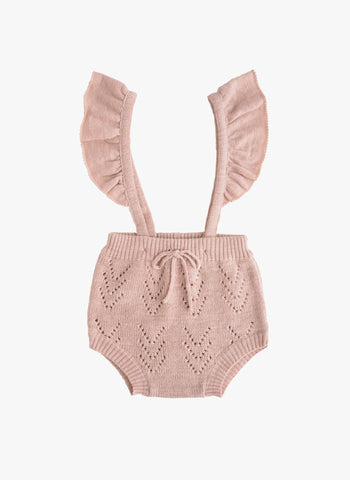 Tocoto Vintage Baby Knitted Romper in Pink - PRE-ORDER