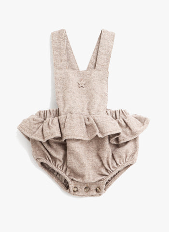 Tocoto Vintage Baby Ruffled Body in Brown - FINAL SALE