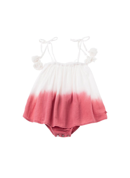 Tocoto Vintage Baby Tie Dye Dress in Pink - FINAL SALE