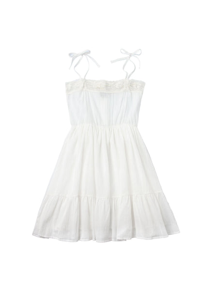 Tocoto Vintage Bambula Dress in Off-White - FINAL SALE
