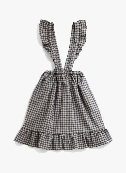 Tocoto Vintage Checked Skirt in Grey - FINAL SALE