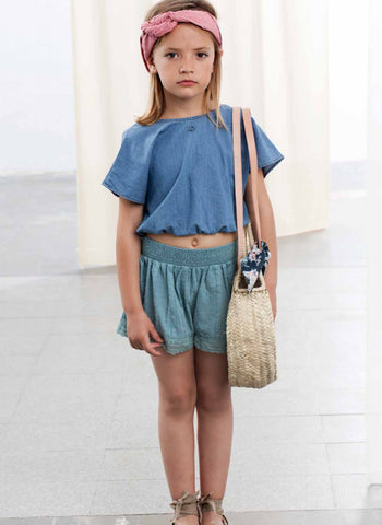 Tocoto Vintage Plumeti Shorts in Green