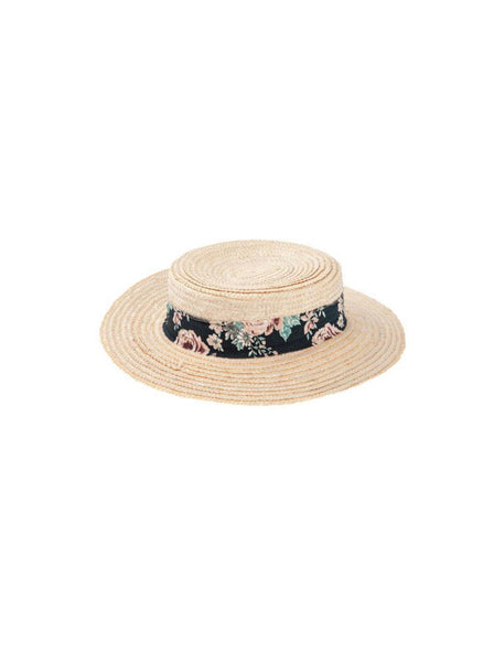 Tocoto Vintage Flowers Ribbon Straw Hat - FINAL SALE