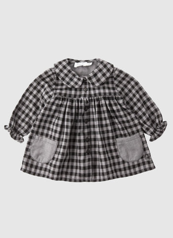 Tocoto Vintage Girl/Baby Check Dress