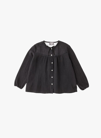 Tocoto Vintage Girl Tulle Blouse in Black
