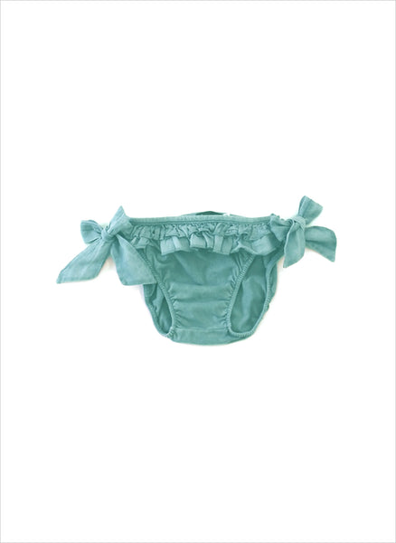 Tocoto Vintage Girls Solid Swim Bottom in Green -  FINAL SALE