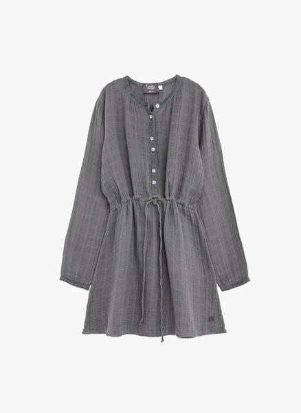 Tocoto Vintage Girls Stras Dress Long in Grey - FINAL SALE