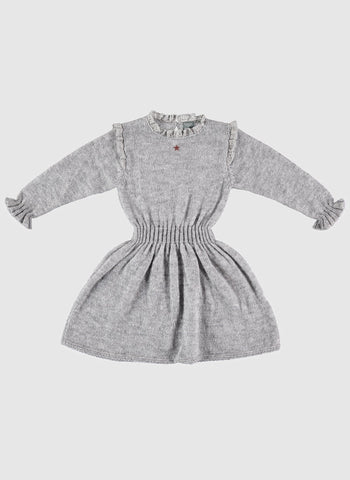 Tocoto Vintage Knitted Dress in Grey - PRE-ORDER