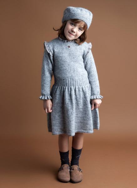 Tocoto Vintage Knitted Dress in Grey