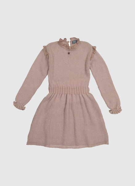 Tocoto Vintage Knitted Dress in Pink - FINAL SALE