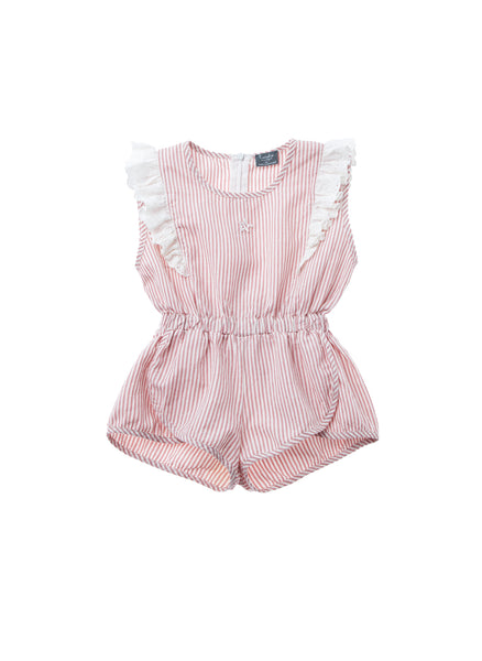 Tocoto Vintage Ruffle Jumpsuit in Pink - FINAL SALE