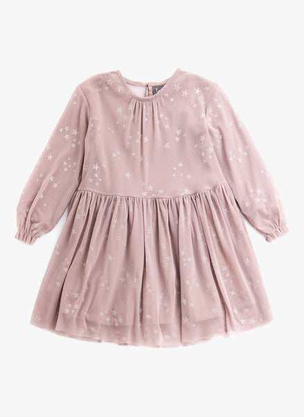Tocoto Vintage Star Dress with Tulle in Pink - FINAL SALE