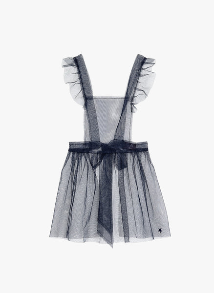Tocoto Vintage Tulle Apron Dress in Navy - FINAL SALE