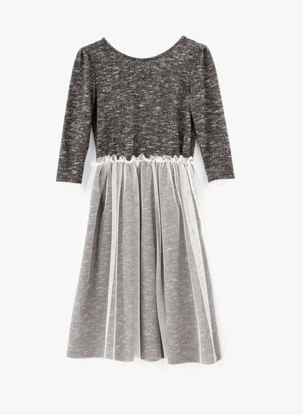 Tocoto Vintage Vigoree Flame Dress Tulle in Dk Grey - FINAL SALE