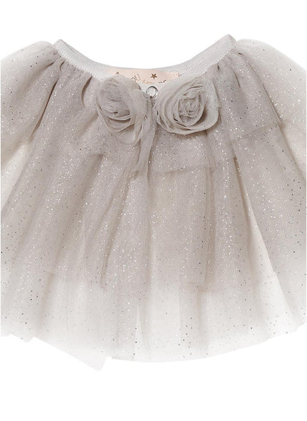 Tutu Du Monde Baby Girl Fairie Dust Cape in Silver - FINAL SALE