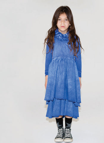 Nununu Victorian Dress in Dirty Blue