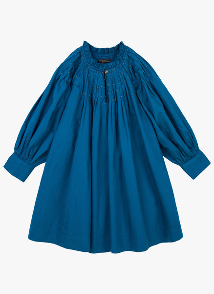 Velveteen Erin Dress in Blue - FINAL SALE