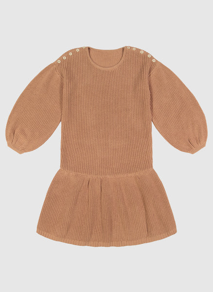 Vierra Rose Jenica Sweater Dress in Camel