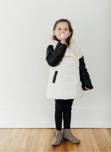 Vierra Rose Abigail Puffer Coat in Daisy - FINAL SALE