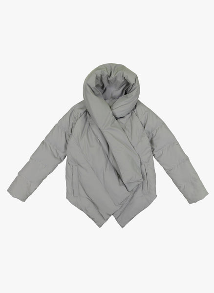 Vierra Rose Angelika Blanket Puffer in Grey - FINAL SALE
