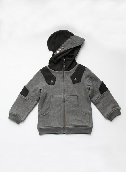 Vierra Rose Arthur Knight Hoodie in Black/Grey - J8013 - FINALE SALE