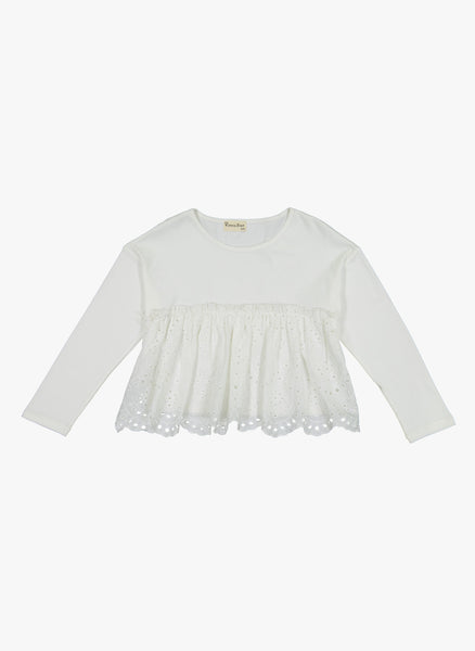 Vierra Rose Aya Eyelet Bottom Top in Ivory - FINAL SALE