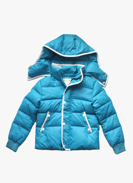 Vierra Rose Unisex Brooklyn Puffer Jacket in Azure Blue - FINAL SALE